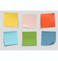 multicolor post it notes vector image vector image