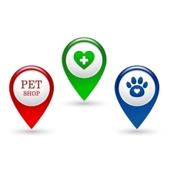 set of veterinary pointers vector image
