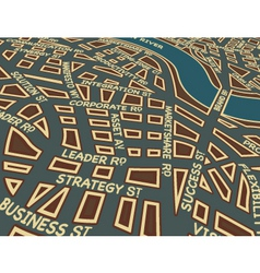 success street vector image vector image