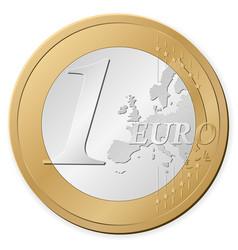 1 euro coin vector image