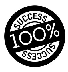 100 percent success stamp on white vector image
