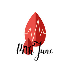 14 june blood donor day poster vector image