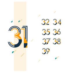 31 year retro anniversary set celebration vector image