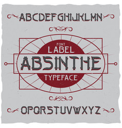 Absinthe label font vector