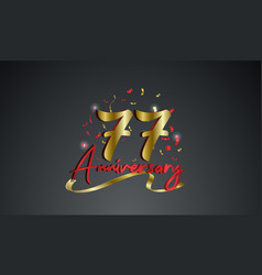 Anniversary celebration background with 77th vector