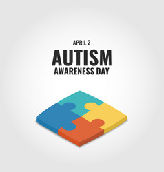 Autism awareness day vector