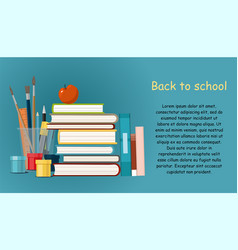 back to school hobby books painting vector image