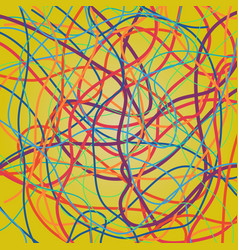 background with moving colorful lines vector image
