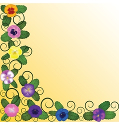 Background with pansies vector