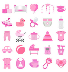 Bagirl icons set vector