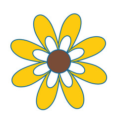 beautiful sunflower gardening vector image