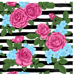 Beautiful vintage seamless pattern with rosebuds vector