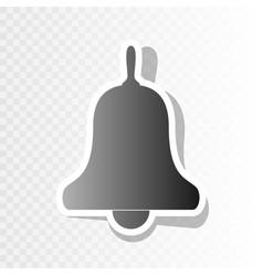 bell alarm handbell sign new year vector image