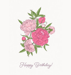 birthday greeting card template with bunch of vector image