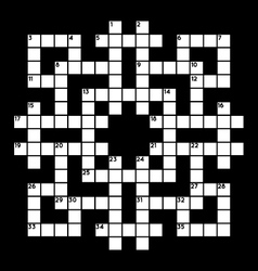 Blank crossword vector