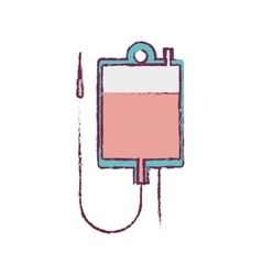 Blur blood donation bag and colorfull vector