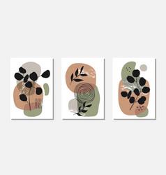 botanical wall art set with eucalyptus vector image