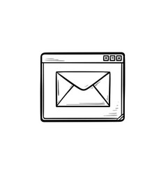 browser message hand drawn outline doodle icon vector image