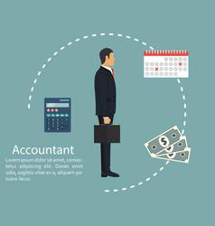 Businessman accountant concept calculation vector