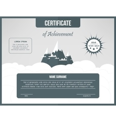 Certificate of achievement template Certification vector image