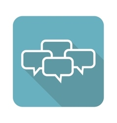 Chat conference icon square vector