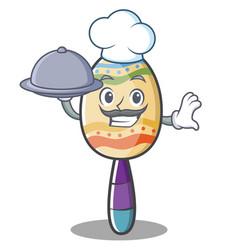 Chef maracas character cartoon style vector