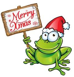 christmas frog vector image