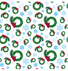 christmas seamless pattern winter holidays vector image