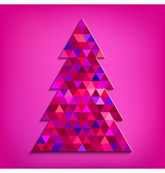 Christmas tree pink vector image