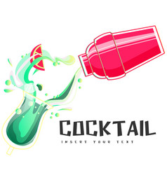 Cocktail shake background image vector