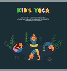 colorful card template kids yoga vector image