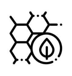 Cosmetic ingredient honey thin line icon vector