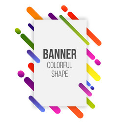 Creative of paper card with vector