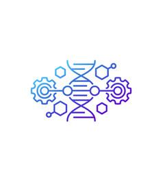 Crispr dna editing line icon vector