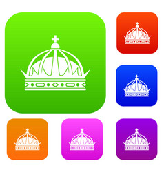 crown set collection vector image