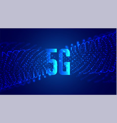 digital 5g new wireless internet technology vector image