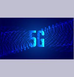 Digital 5g new wireless internet technology vector