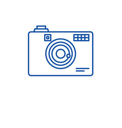 digital camera line icon concept digital camera vector image