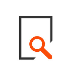 document search icon in flat style isolated on vector image