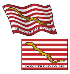 Dont tread on me flag waving and flat vector