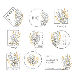 Et floral design elements vector