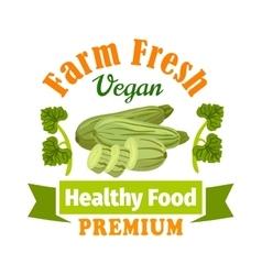 Farm fresh zucchini squash Healthy food icon vector image
