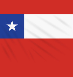 Flag chile swaying in wind realistic vector