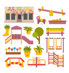 Flat playground vector