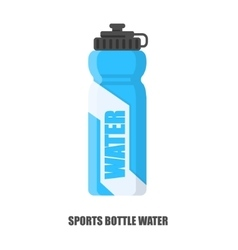 Flat sports bottle water vector