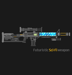 futuristic sci-fi weapon vector image