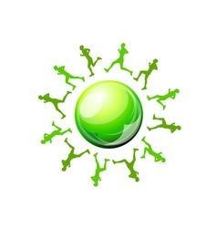 Green runners vector