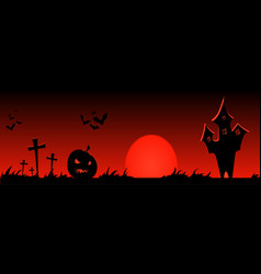 happy halloween banner design vector image