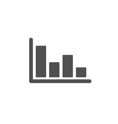 Histogram chart icon financial graph vector