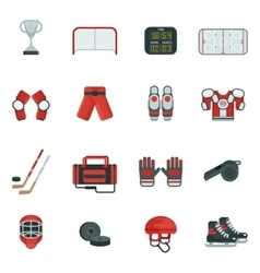 Hockey Decorative Icon Set vector image